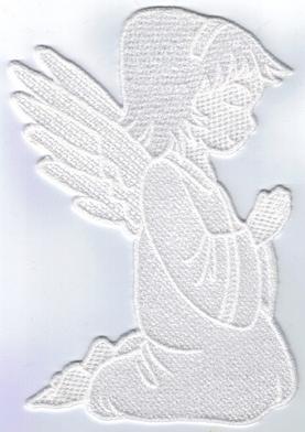 gesticktes Fensterbild - Engel