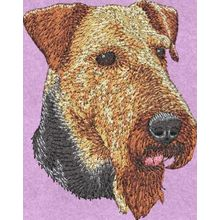 Stickmotiv: Airedale Terrier 1