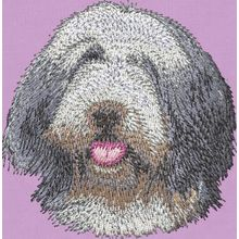 Stickmotiv: Bearded Collie