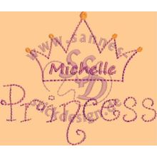 Stickmotiv: Princess